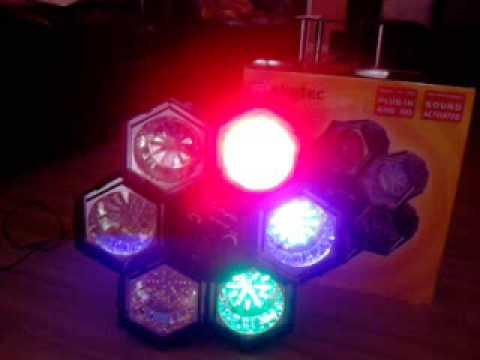 6 Linkable Led Light Pod Disco Lights Youtube
