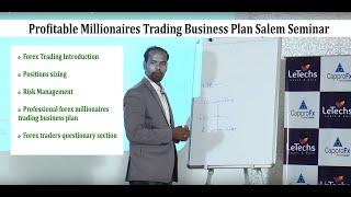 Profitable Millionaires Trading Business Plan Salem Seminar