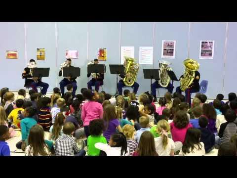 Tuba Euphonium Ensemble from Marine Corps Base Quantico 12.15.14