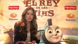 ¡Galilea Montijo y Thomas & Friends estrenaron El Rey de las Vías en México!
