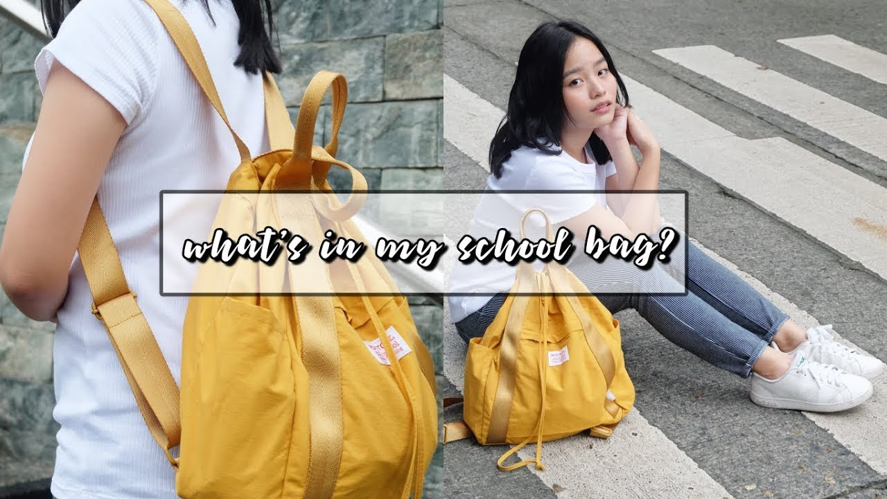 Whats In My School Bag Youtube Rootote Womenamp039s Backpack