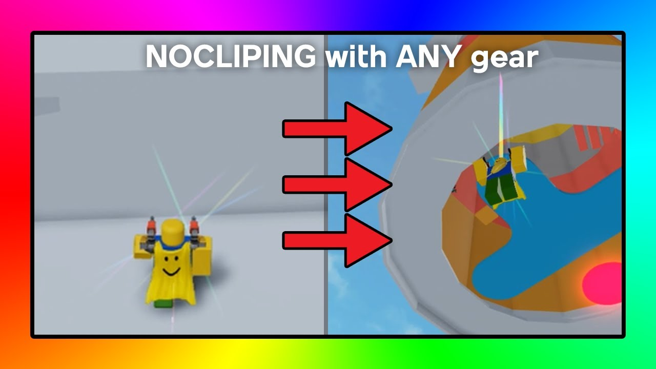 Noclip Using Gear In Almost Every Game Roblox Tutorial Youtube