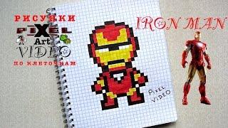 Мой Рисунк по Клеточкам Железный Человек