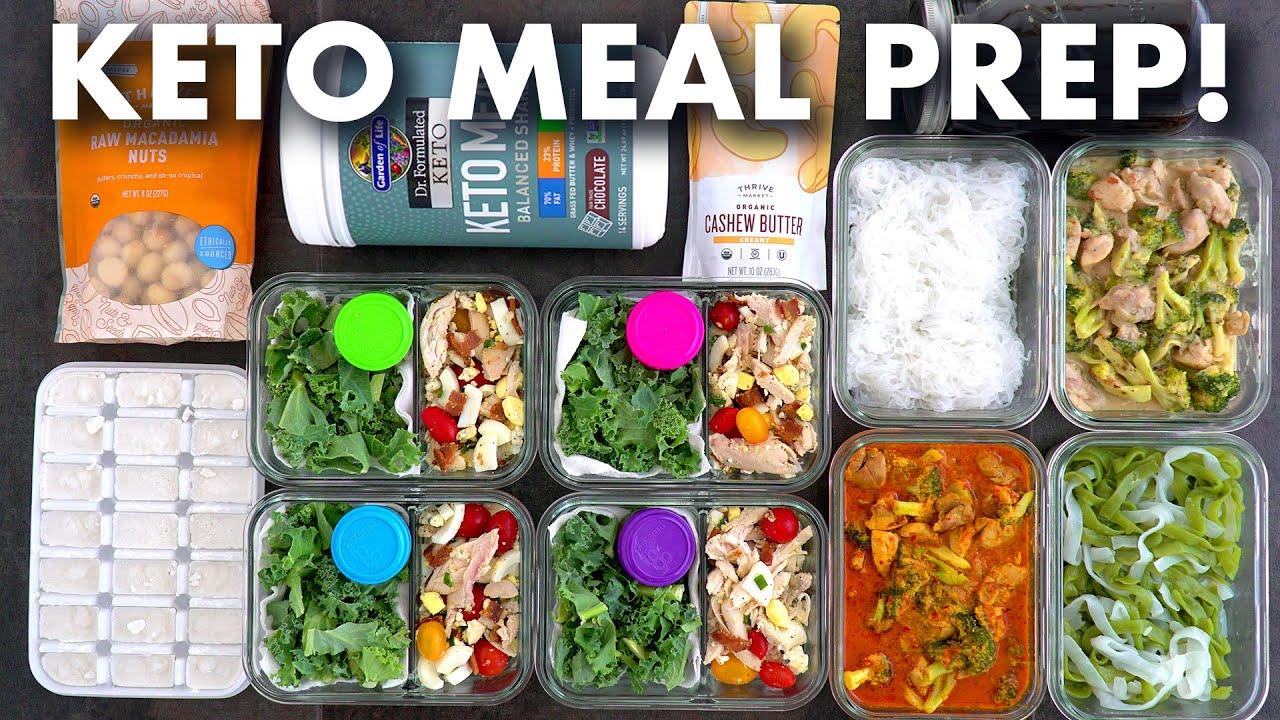 Keto Meal Prep For The Week Healthy Meal Prep For Keto Diet Youtube
