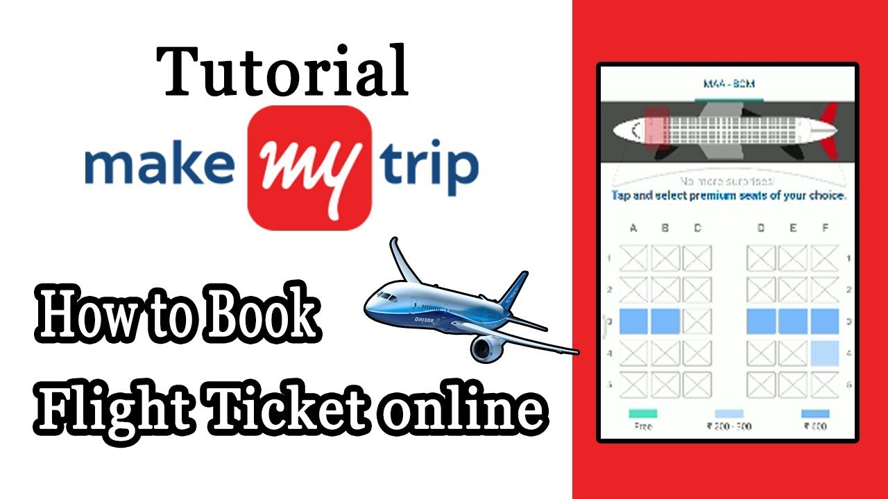 Make my Trip Flight Booking  How to Book Flight Ticket in MakeMyTrip