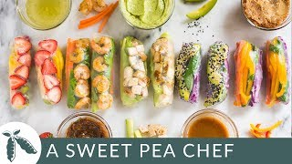 5 Healthy Spring Roll Recipes | A Sweet Pea Chef