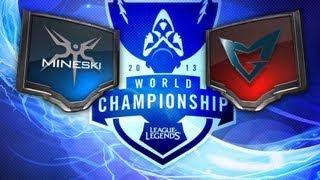 LOL - Mineski vs Ozone - Season 3 World Championship D2G1 Highlights