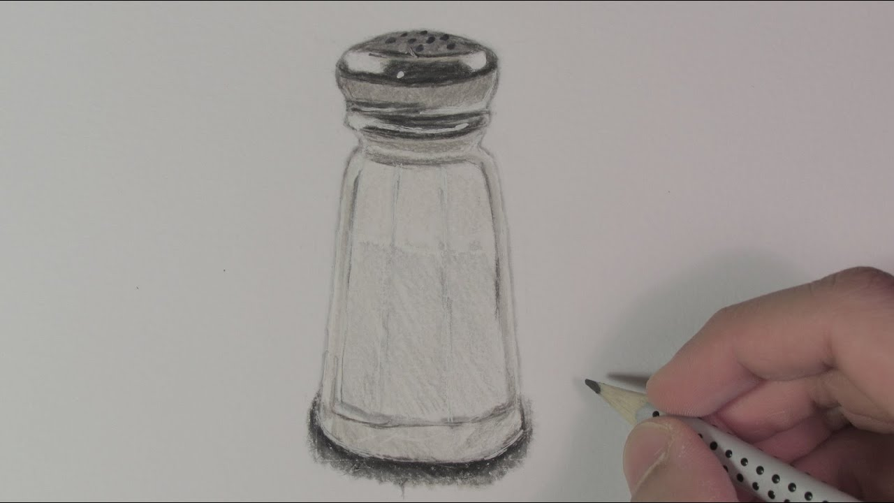 Realistic Salt Shaker (Speed Drawing) - YouTube