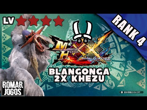 Rank 4: Blangonga e 2x Khezu - Monster Hunter XX/Generations Ultimate 3DS thumbnail