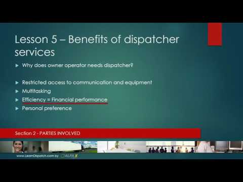 Lesson 5 - Benefits of dispatcher services