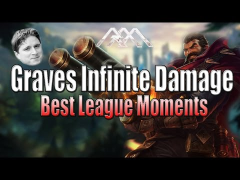 Graves Infinite Damage - Best League Moments - League of Legends