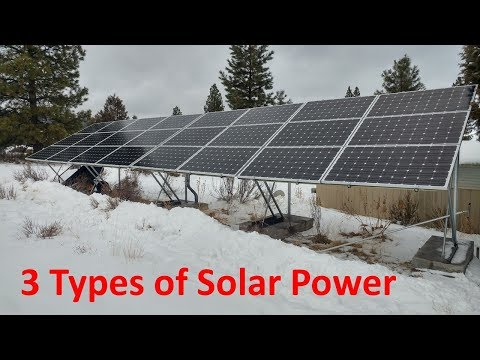 3 Types of Solar Power for Your Home