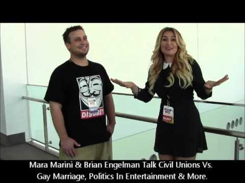 Mara Marini Discusses Gay Marriage Vs. Civil Unions W Brian Engelman At Politicon