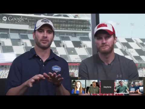 #488Hangout at Daytona 500 with Jimmie Johnson and Dale Earnhardt Jr.