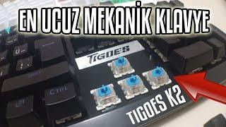 Dünya'nın En Ucuz Mekanik Klavyesi İncelemesi + Mouse Bedava | Tigoes K2 Blue Switch Ses Testi