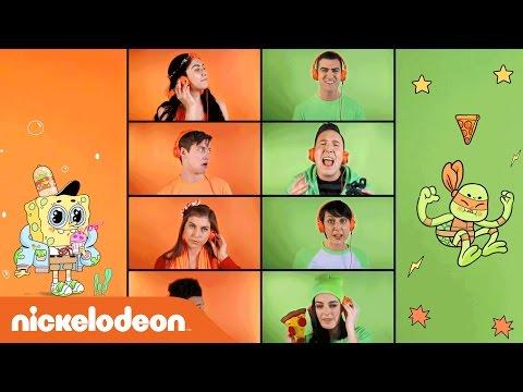 SpongeBob vs. TMNT Acapella Theme Song #ReadAlong | Nick