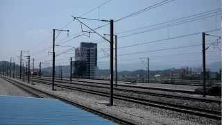 KTX 천안아산역 天安牙山駅を最高速で通過するソウル行KTX