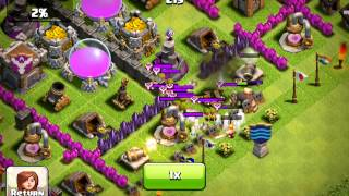 Clash of Clans, TH7 defense x 3 in 1 hour