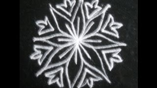 How to draw simple rangoli with floral patterns
