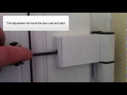 & How to adjust pvc door hinges - YouTube