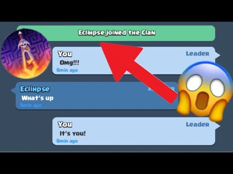 ECLIPSE JOINED MY CLAN!?!?! (Clash Royale Gameplay)