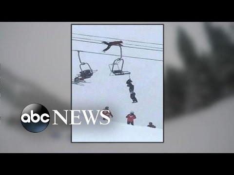 Man Climbs Ski Lyft, Cuts Down Suffocating Skier