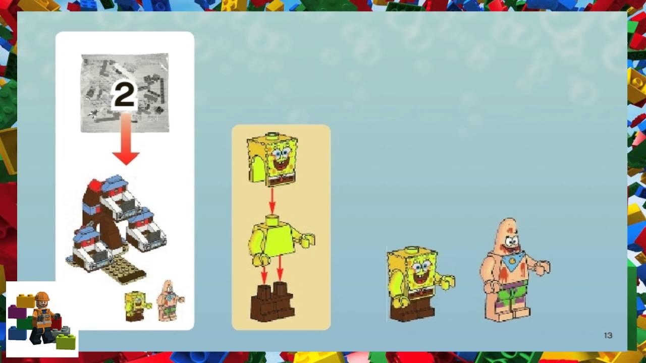 Lego Instructions Spongebob 3816 Glove World Youtube