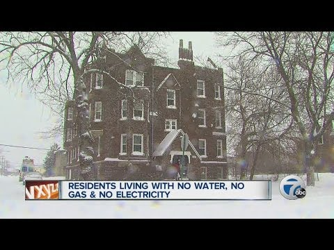 Residents living with no water, no gas and no electricity