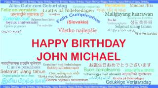 JohnMichael   Languages Idiomas - Happy Birthday