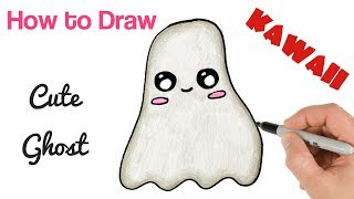 How to Draw Cute Ghost Halloween drawings for kids