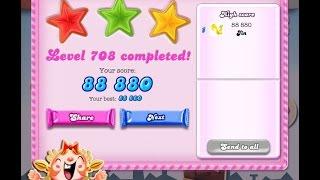 Candy Crush Saga Level 708   ★★★   NO BOOSTER
