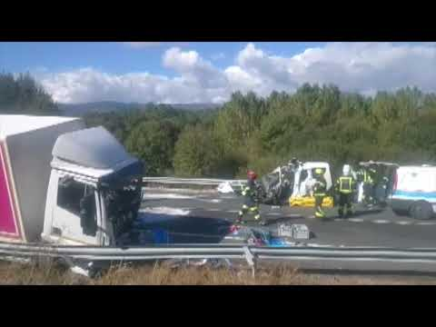 Accidente mortal en San Cristobo de Cea 16-10-2018