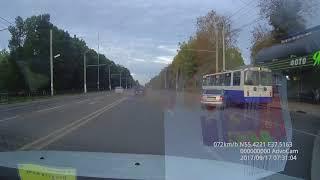 ДТП Подольск остановка Сквер Подольских курсантов 17-09-2017