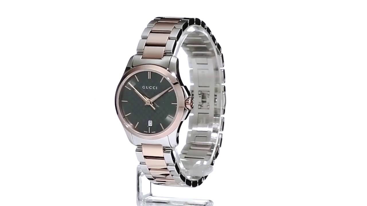 e8b7b3e6e7a Gucci - G-Timeless 27mm Bracelet - YA126527 SKU 8800111 - YouTube