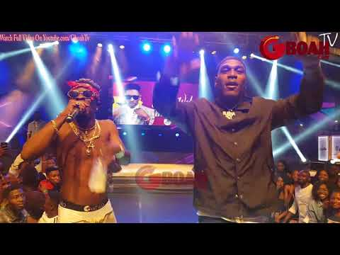 See How Fans Storms The Stage To Hug Burna Boy, Shatta Wale and Becca As They Perform