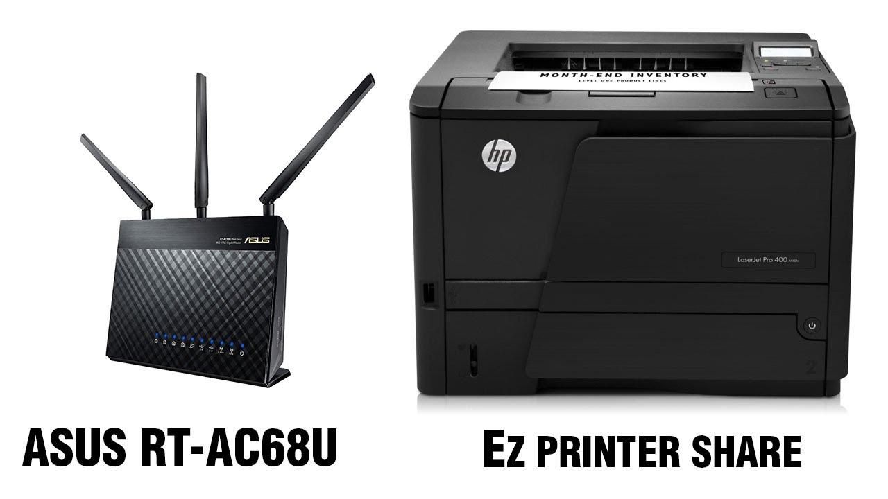 how to add printer on rt-ac68u