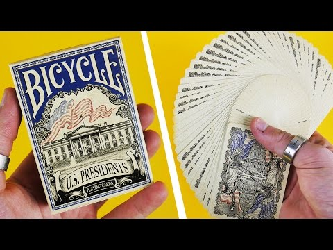 Deck Review - Bicycle U.S. Presidents Democratic Blue Playing Cards [HD-4K]