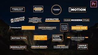 Premiere Pro Template: Creative Typo Iv