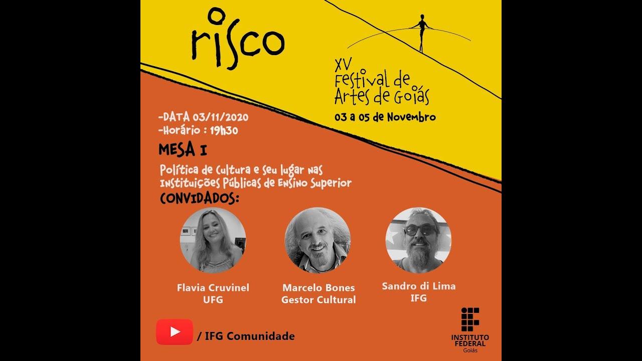 Download Festival de Artes de Goiás 2020 (IFG) - Abertura e Mesa 1: Políticas de Cultura