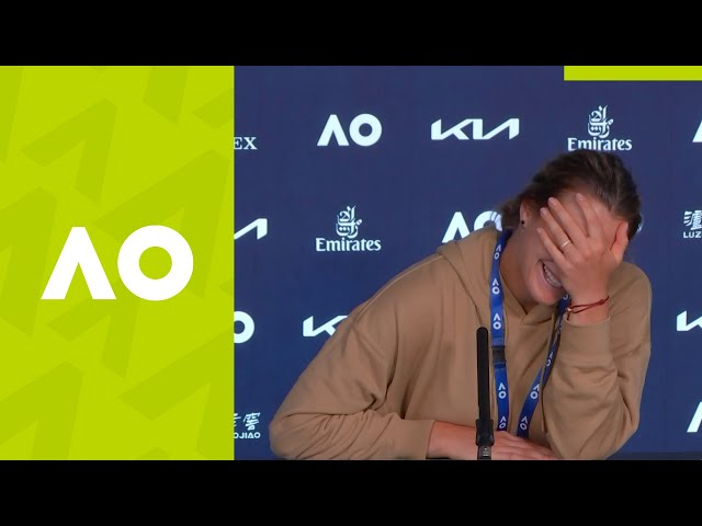 "Aryna Sabalenka: ""I was thinking nobody can beat me!"" (3R) press conference 