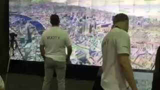 MIPIM UK 2015 - Interactive Video Wall Exhibit of London