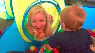 MOM TAKES OVER KIDS NEW TOY FORT!