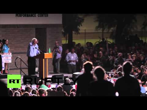 "USA: Sanders tells billionaires ""you can't have it all!"" in Tucson"
