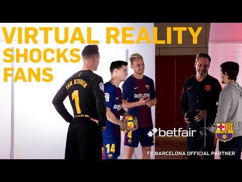 Barcelona Virtual Training Ground with Iniesta, Coutinho and Rakitic
