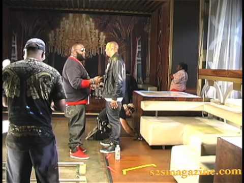 Marques Houston & Rick Ross shoot the video for 'Pullin' on Her Hair'