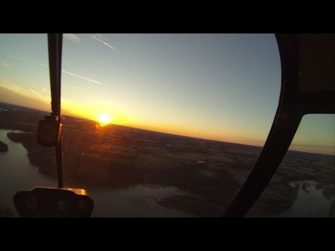 R22 Helicopter Add-On Flight #19 Solo XC Part II Sunset to John ...