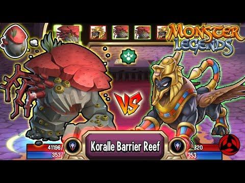 🔴Monster Legends: Koralle Brutalis level 130 vs DUNN RA 130 🔥 The Abyss Grand Prix  review
