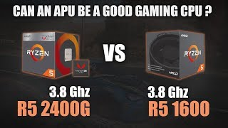 rYZEN 5 2400G vs Ryzen 5 1600X - BENCHMARKS / GAMING TESTS REVIEW AND COMPARISON