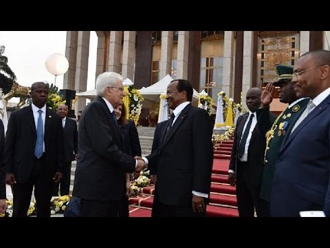 Italian president on a four-day official visit to Cameroon