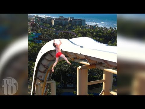 Thumbnail: 10 People Who FELL Off Waterslides!